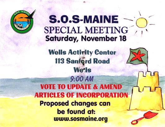 SOS Maine - November Meeting